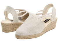 Sesto Meucci 835 Natural Lona Lino Women's Wedge Shoes White