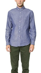 Gitman Brothers Vintage Seed To Sew Button Down Shirt Denim
