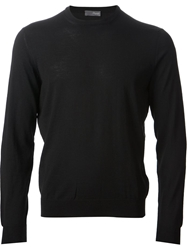 Drumohr Round Neck Knit Sweater Black