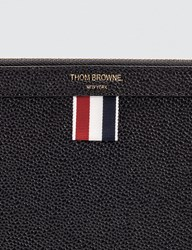 Thom Browne Pebble Grain Leather Small Zipper Tablet Holder 29.5 X 20Cm