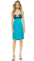 Vpl Modal Insertion Dress Turquoise