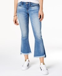 Dollhouse Juniors' Cropped Kick Flare Jeans Skylark