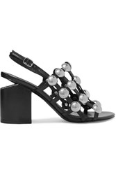 Alexander Wang Nadia Studded Leather Slingback Sandals Black