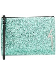Giuseppe Zanotti Design New Thunder Clutch Green