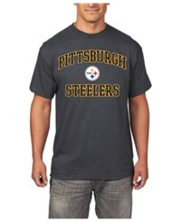 Profile Men's Big And Tall Pittsburgh Steelers Heart And Soul T Shirt Charcoal