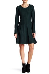 Eliza J Long Sleeve Fit And Flare Dress Petite Green