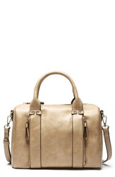 Sole Society Zypa Faux Leather Barrel Satchel Brown Camel