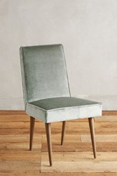 Anthropologie Slub Velvet Zolna Chair Light Mint