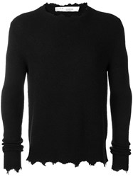 Iro Distressed Crew Neck Jumper Black