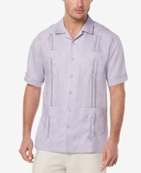 Cubavera Guayabera Linen Shirt Heirloom Lilac