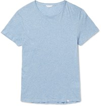 Orlebar Brown Ob T Melange Cotton Jersey T Shirt Blue