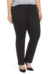 Democracy Plus Size Women's Ab Solution Stretch Straight Leg Jeans Black