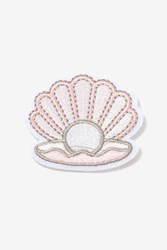 Topshop Clam Shell Iron On Badge Pink