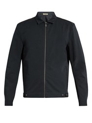 Bottega Veneta Intrecciato Trimmed Zip Through Jacket Black
