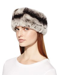 Surell Rex Rabbit Fur Headband Gray Multi
