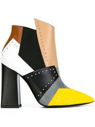 Pollini Colour Block Boots Green