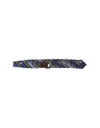 Frankie Morello Belts Dark Blue