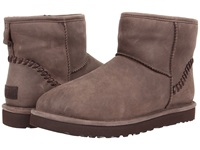 Ugg Classic Mini Deco Capra Chocolate Leather Men's Pull On Boots Brown
