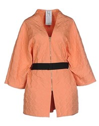 Uniqueness Coats And Jackets Full Length Jackets Women Apricot