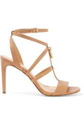 Michael Michael Kors Antoinette Leather Sandals Neutral