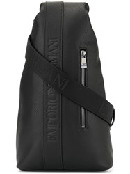 Emporio Armani Logo One Shoulder Backpack Black