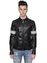 Dolce And Gabbana Vintage Effect Nappa Leather Jacket