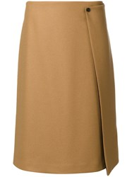 Paul Smith Ps By A Line Skirt Nylon Acetate Viscose Wool Brown