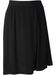 Yves Saint Laurent Vintage 1996 Wrapped Skirt Black
