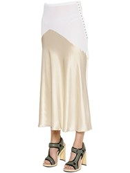 Esteban Cortazar Thick Jersey And Satin Skirt
