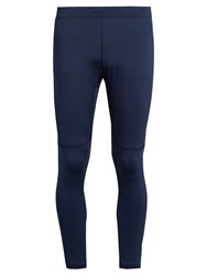 Fendi Cropped Performance Leggings Navy Multi