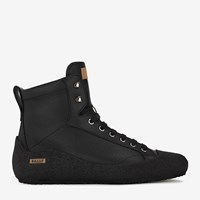 Bally Men's Fur Lined Black High Top Leather