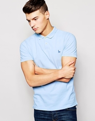 Jack Wills Polo With Pheasant Logo Skyblue