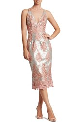 Dress The Population Women's Angela Sequin And Lace Midi