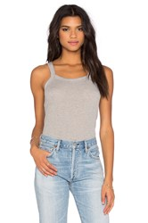 David Lerner Aiden Rib Tank Gray