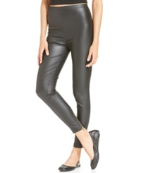 Nine West Back Zip Waxed Leggings Black