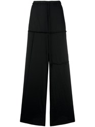 Lost And Found Rooms Exposed Seam Palazzo Pants Black