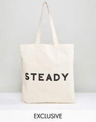 Reclaimed Vintage Tote Bag Steady Beige