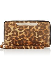 Rebecca Minkoff Olivia Leopard Print Textured Leather Wallet Leopard Print