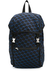 Z Zegna Pentagon Print Backpack Black
