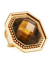 Stephanie Kantis Smoky Topaz Adjustable Ring Brown