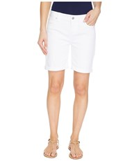 Liverpool Corine Rolled Cuff Walking Shorts On Vintage Slub Stretch Twill In Bright White Bright White Women's Shorts