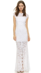 Rachel Zoe Estelle Cutout Maxi Dress Pure White