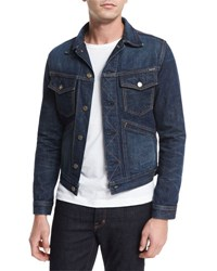 Tom Ford Western Denim Jacket Blue