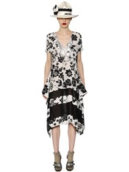 Antonio Marras Floral Printed Lace And Crepe Dress