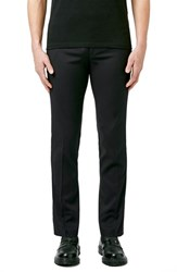 Men's Topman Skinny Fit Black Tuxedo Trousers