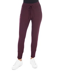 B Collection By Bobeau Brushed Jogger Pants Burgundy