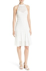 Tracy Reese Women's Stretch Lace Flare Hem Frock