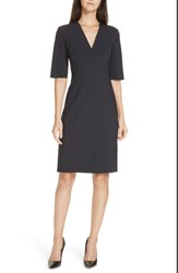 Boss Daleno Stretch Wool Sheath Dress Navy