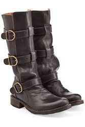 Fiorentini And Baker Leather Buckle Boots Brown