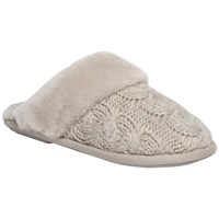 Just Sheepskin Bloomsbury Knit Slippers Stone